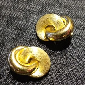 Vintage signed Christian Dior clip earrings